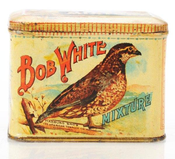 Bob White Mixture Tobacco Advertising Tin