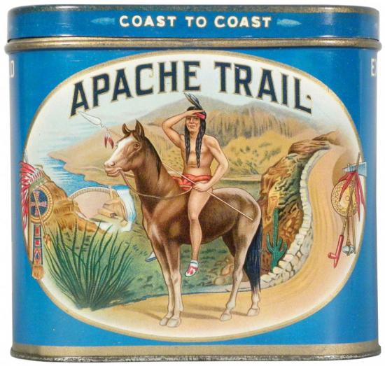 Apache Trail 50 Cigar Advertising Tin