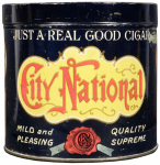 CIty National 50 Cigar Advertising Tin
