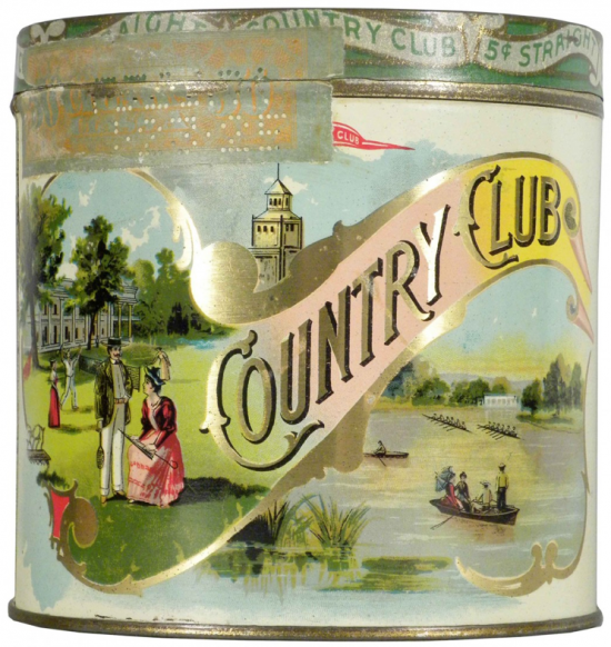 Country Club 50 Cigar Advertising Tin