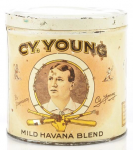Cy Young Round Cigar Advertising Tin Mild Havana Blend
