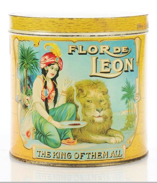 Flor de Leon Cigar Advertising Tin