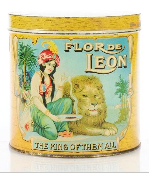 Flor de Leon Cigar Advertising Tin
