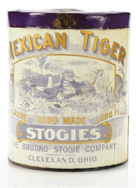 Mexican Tiger Hand Made Stogies Advertising Tin