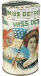 Miss Detroit Cigar Tin