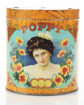 Poppy Cigar Tobacco Advertising Tin