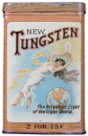 New Tungsten 25 Cigar Advertising Tin