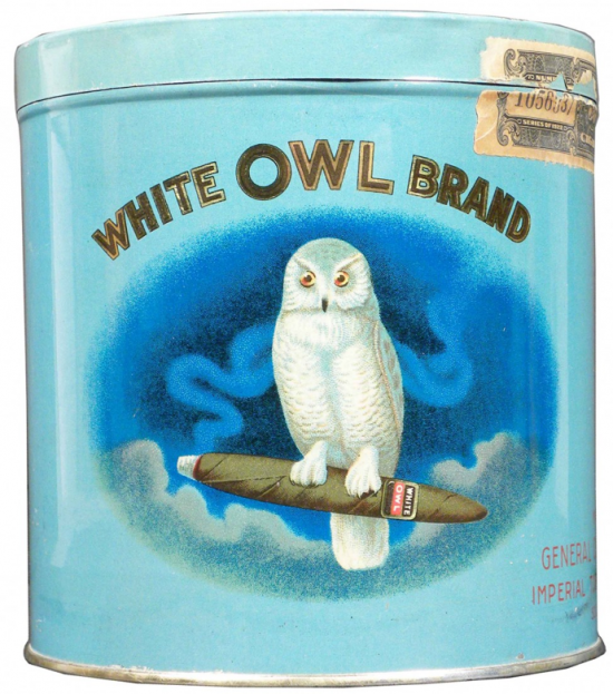White Owl Brand 50 Cigar Advertising Tin