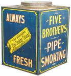 Five Brothers Pipe Tobacco Canister