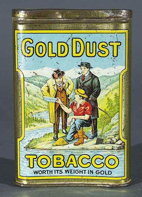 Gold Dust Vertical Pocket Tobacco Tin