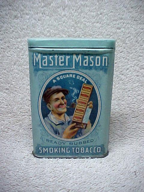 Master Mason Ready Rubbed Smoking Tobacco Vertical Pocket Tin