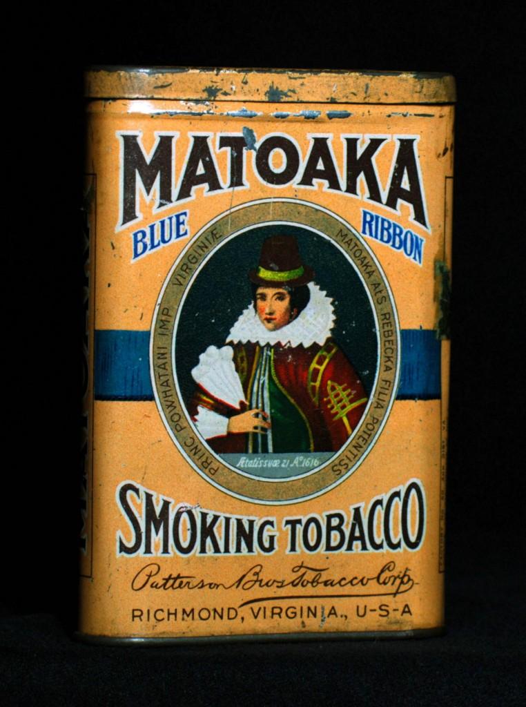 Matoaka Blue Ribbon Smoking Tobacco Tin