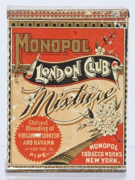 Monopol London Club Mixture Vertical Pocket Tobacco Tin