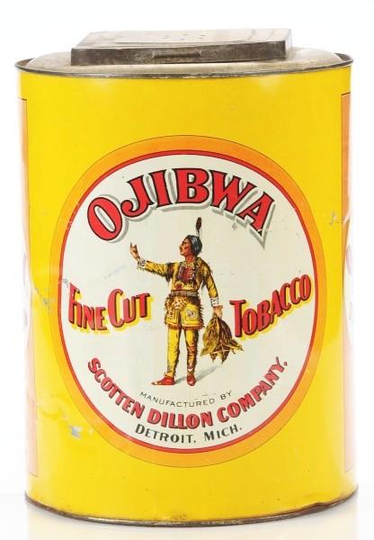 Ojibwa Canister Tobacco Tin