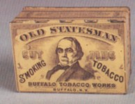 Old Statesman Square Corner Tobacco Tin