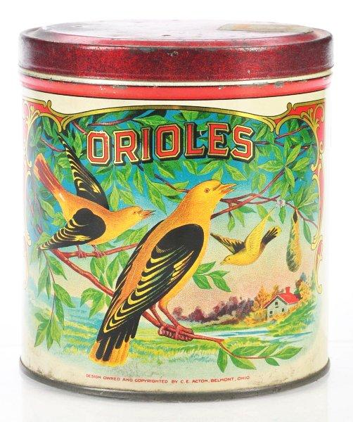 Orioles Canister Tobacco Tin