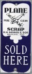 Plane Scrap Cigar Door Push Porcelain Sign