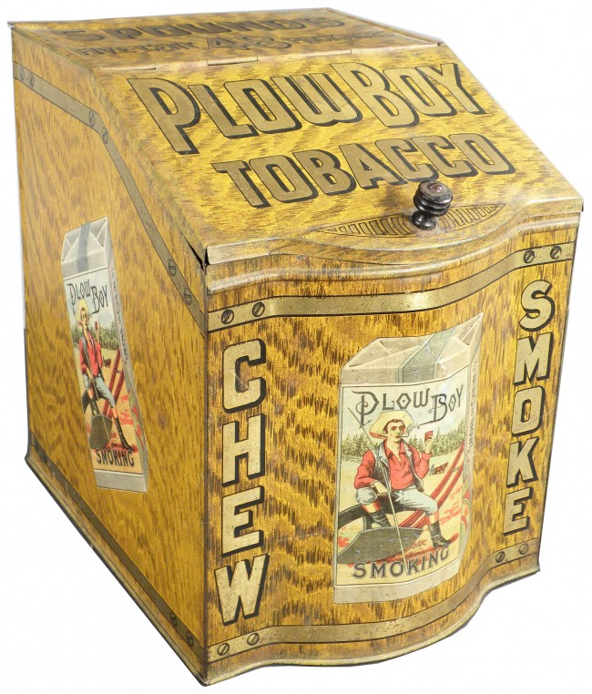 Plow Boy Tobacco Store Display Advertising Bin