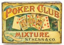 Poker Club Mixture Square Corner Tobacco Tin