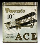 Popper's Ace Ten Cent Cigar Tobacco Tin