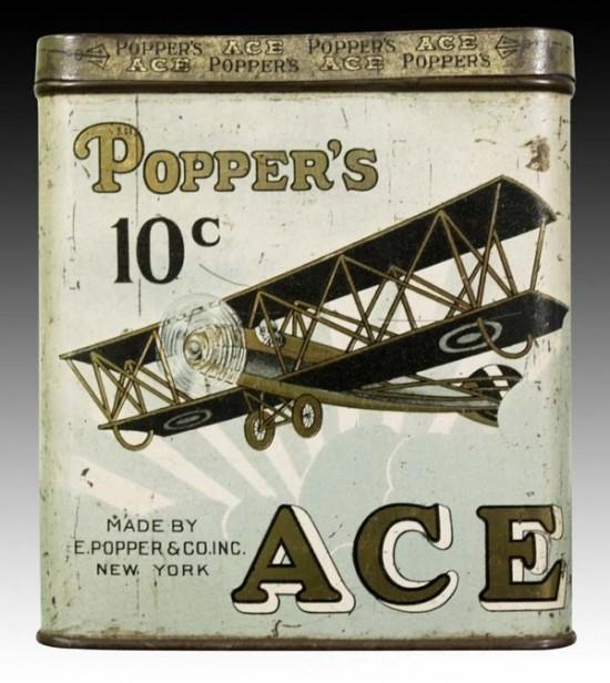 Popper's Ace Ten Cent Cigar Tobacco Tin
