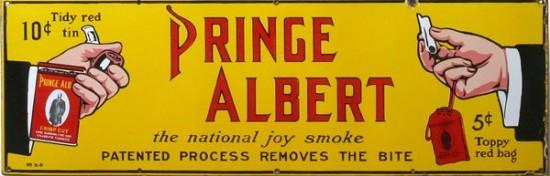 Prince Albert Tobacco Porcelain Sign
