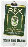 Rex Tobacco Door Push Advertising Porcelain Sign