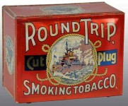 Round Trip Smoking Tobacco Tin