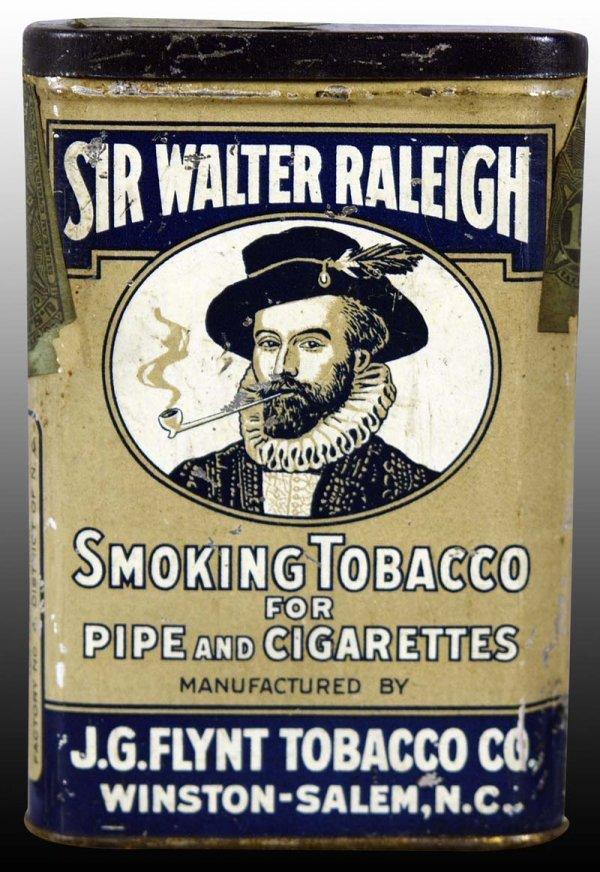 Sir Walter Raleigh Smoking Tobacco Vertical Pocket Advertising Tin