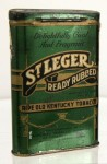 St. Leger Ready Rubbed Vertical Pocket Advertising Tin