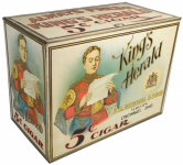 King's Herald 5 cent Cigar Store Bin Advertising