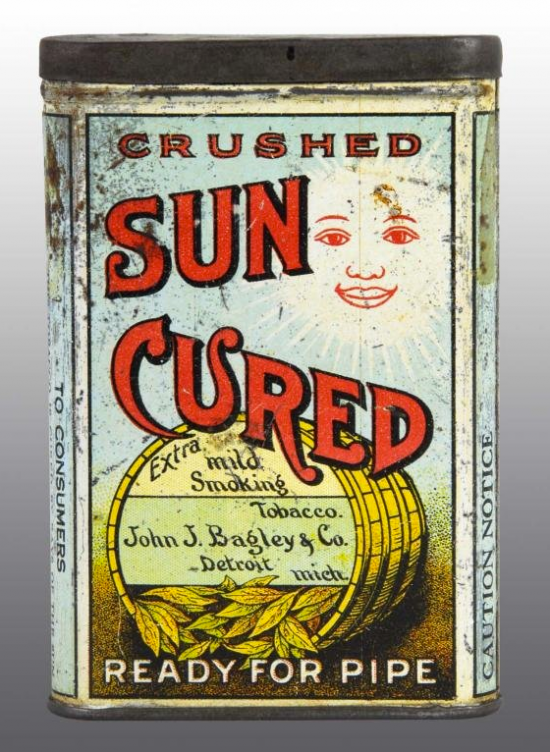Sun Cured Crushed Vertical Pocket Advertising Tobacco Tin