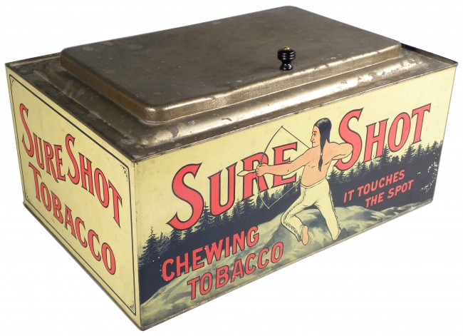 Sure Shot Chewing Tobacco Store Display Advertising Bin