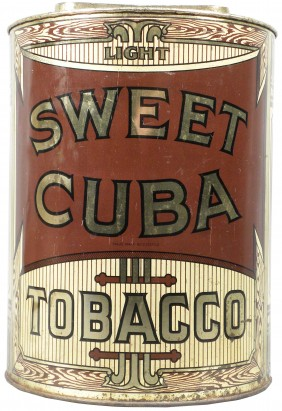 Sweet Cuba Tobacco Canister Tin