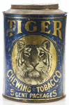 Tiger Chewing Tobacco Canister Tin