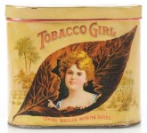 Tobacco Girl Cigar Advertising Tin