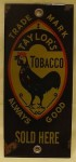 Trade Mark Taylor's Tobacco Porcelain Door Push Sign