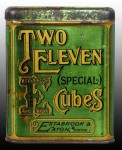 Two Eleven Special Cubes Vertical Pocket Advertising Tin