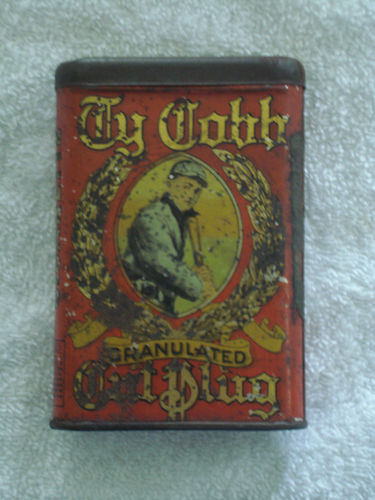 Ty Cobb Granulated Cut Plug Vertical Pocket Advertising Tin