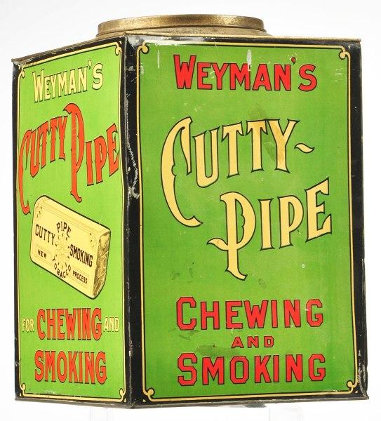 Weyman's Cutty Pipe Tobacco Canister Tin
