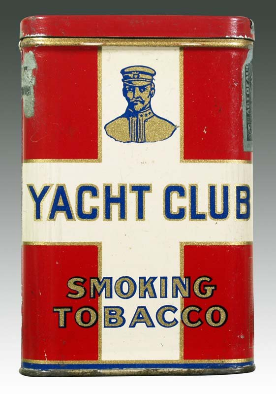 Yacht Club Vertical Pocket Advertising Tin