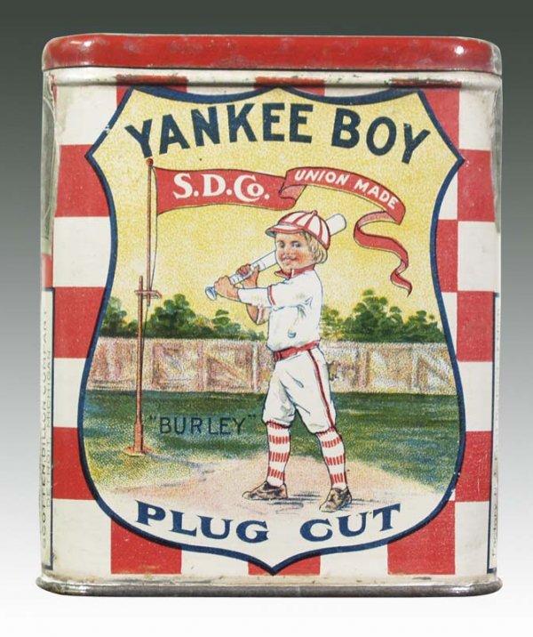 Yankee Boy Vertical Pocket Advertising Tobacco Tin