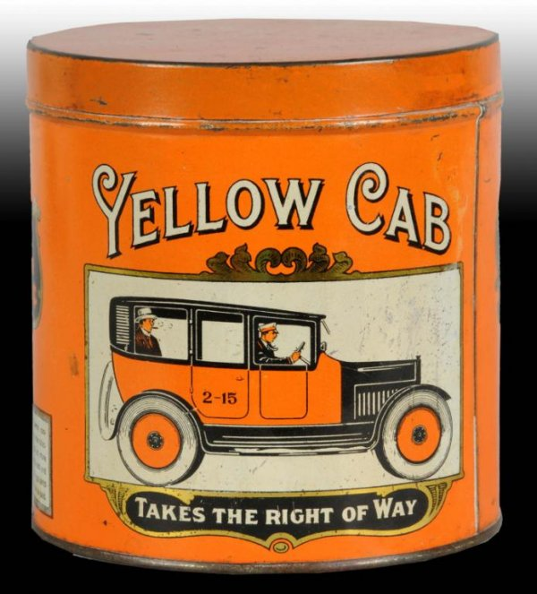 Yellow Cab Tobacco Canister Tin
