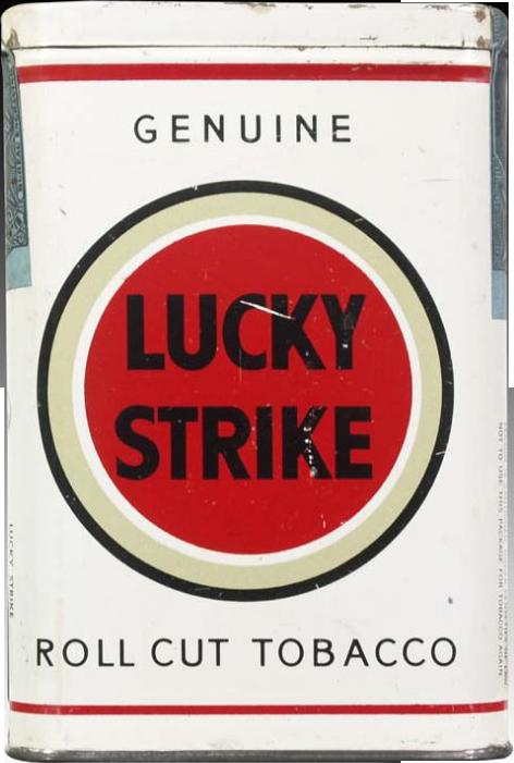 photo of a pack of Lucky Strikes cigarettes, smoke 'em if you got 'em